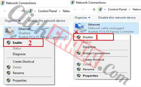 Disable And Enable Your Network Adapter