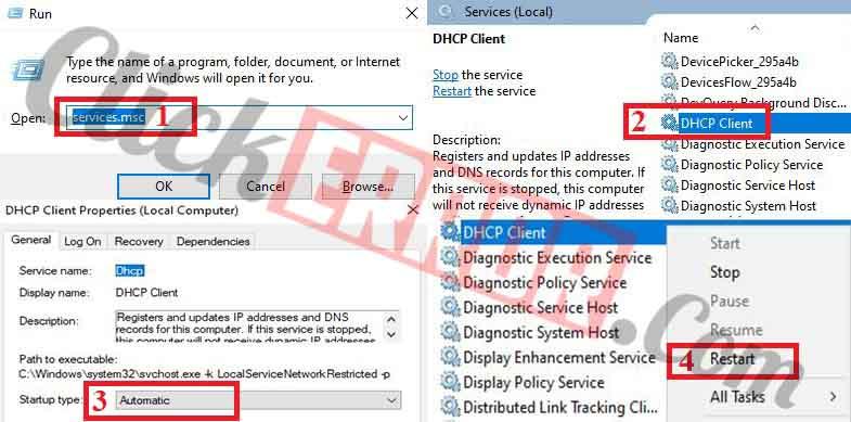 Enable or Restart DHCP